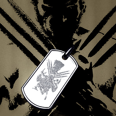 Custom Engraved Wolverine Dog Tag Necklace