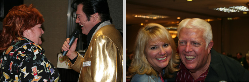 Lorraine Olson, Elvis, Sally Phillips, & Bill Melton - on the dance floor