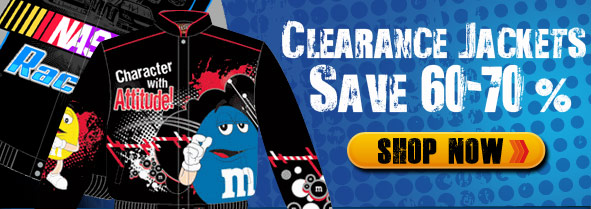Clearance Nascar and Character Jackets