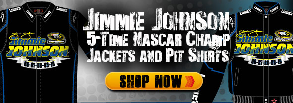 Jimmie Johnson Champion Jackets and Pit Shirts