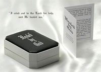 Healed by God Pendant and Hezekiah story in gift box