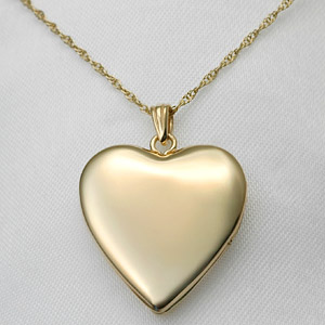 heart shaped lockets are romantic gifts and can be engraved on the front with a name or monogram and on the back with a personal or romantic message