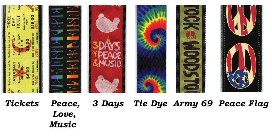 Woodstock Guitar Straps By Planet Waves Strings And Beyond