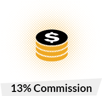 13% Commision