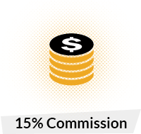 15% Commision