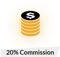 20% Commision