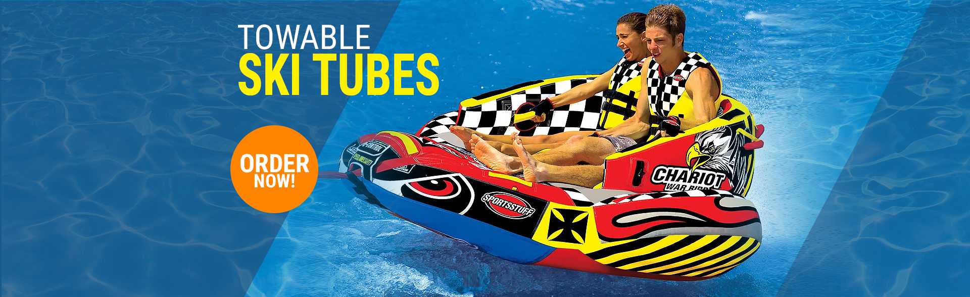Inflatable Rubber Ring Raft Donut Pull Along Towable Water Sports Boat Surfer