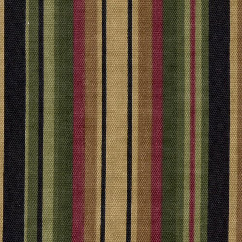 New England Black Tea Dyed Striped Curtain Valances