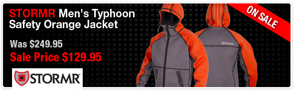 Stormr Mens Typhoon Jacket - Orange Sale