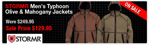 Stormr Mens Typhoon Jackets Olive & Mahogany Closeout