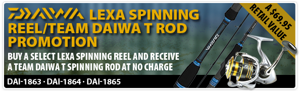 Daiwa LEXA Spinning Reel / Team Daiwa T Rod Promotion