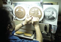 Creating Penn's 75th Anniversary silver coin for the 50VSW International Reel Set.