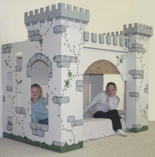 castle bed playhouse plans