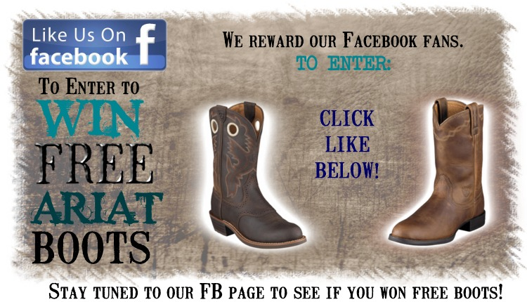 Ariat boot giveaway on facebook