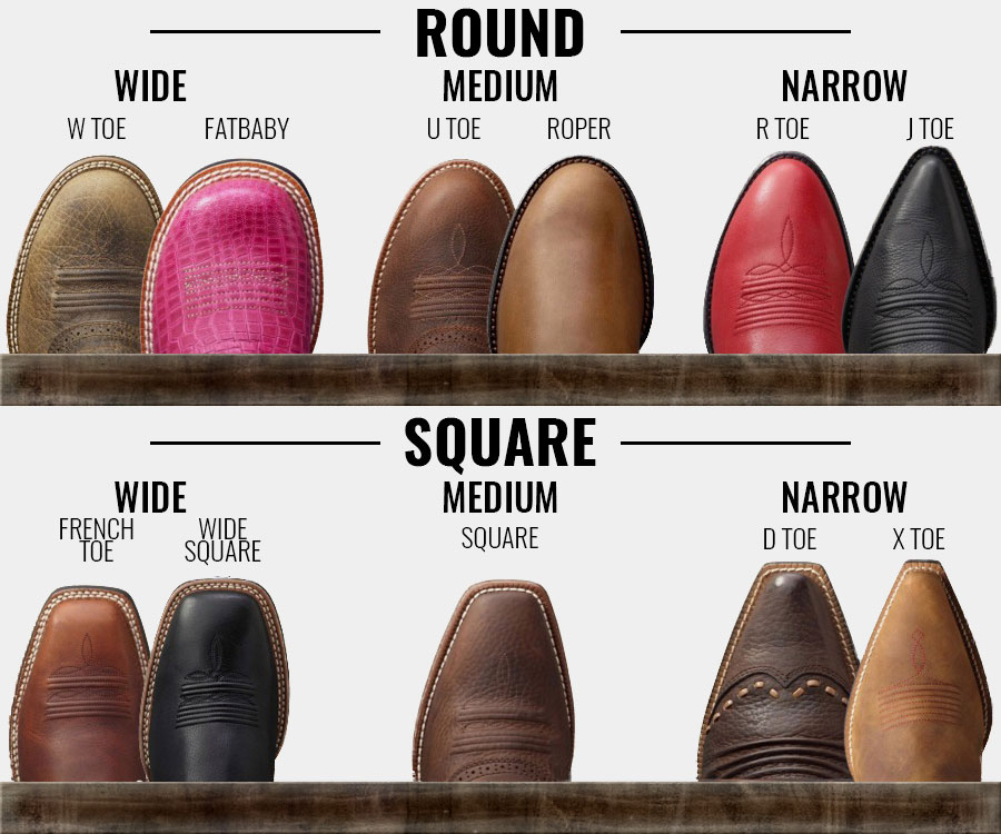 Western Boot Toe Shapes