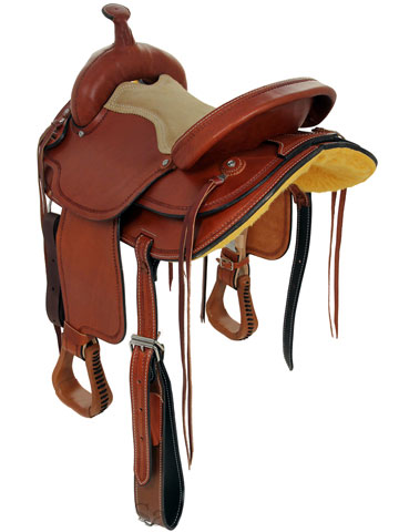 Back View, Dakota Flex Trail Saddle 202fx