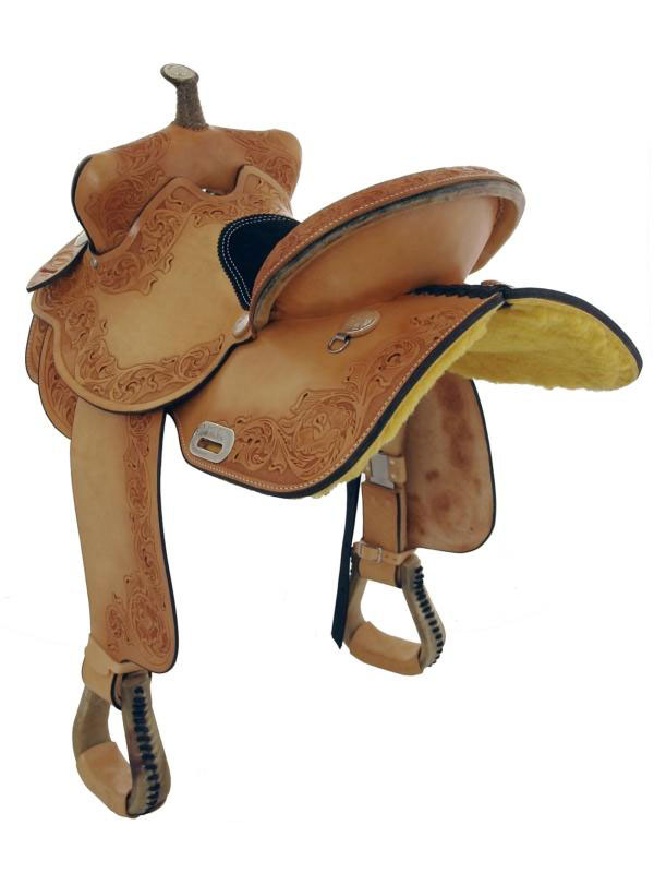 Back view of Dakota Barrel Racing Saddle 470