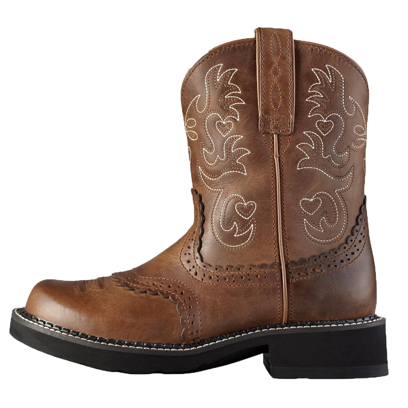 Ariat Women&39s Fatbaby Saddle Boots Fatbaby Toe Russet Rebel 10000860