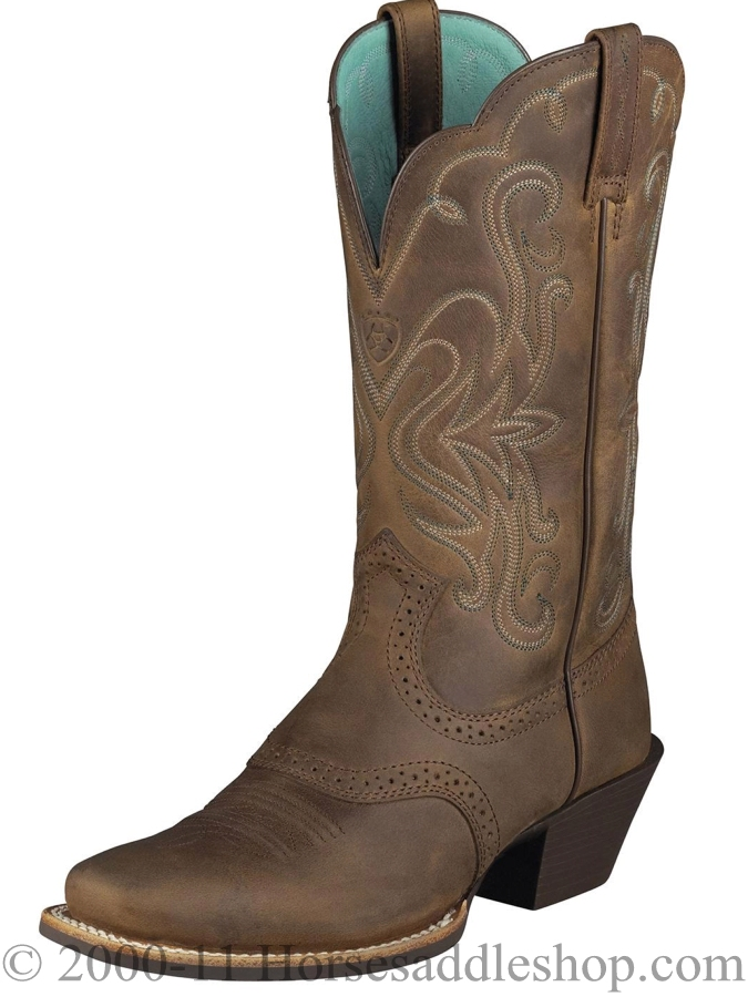 Ariat Women&39s Legend Boots Square Toe Distressed Brown 10001053