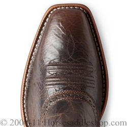 Ariat Men&39s Heritage Roughstock Boots Square Toe Thunder Brown