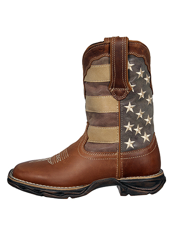 Men S Rebel By Durango Faded Patriotic Flag Western Boot