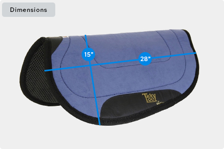 Tacky Too Round Skirt Saddle Pad Dimensions