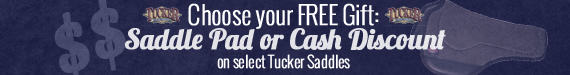 Buy a new Tucker Saddle and receive some matching tack for free!