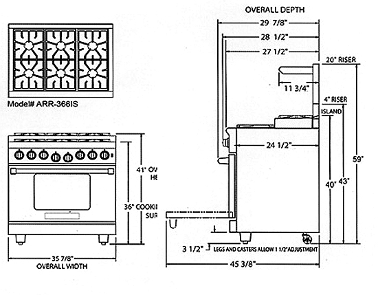 What Are Standard Kitchen Range Dimensions