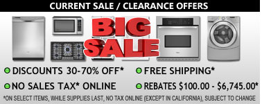Discounts, Sale, Rebates, FREE Services, Offers From Universal Appliance and Kitchen Center