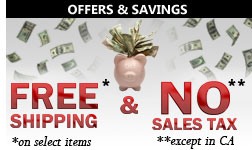 Universal Appliance and Kitchen Center offers FREE Shipping and NO Sales Tax