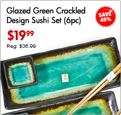 Green Glazed & Crackled Sushi Set (6-pcs set)