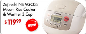 Zojirushi NS-VGC05 Micom Rice Cooker and Warmer 3 Cup