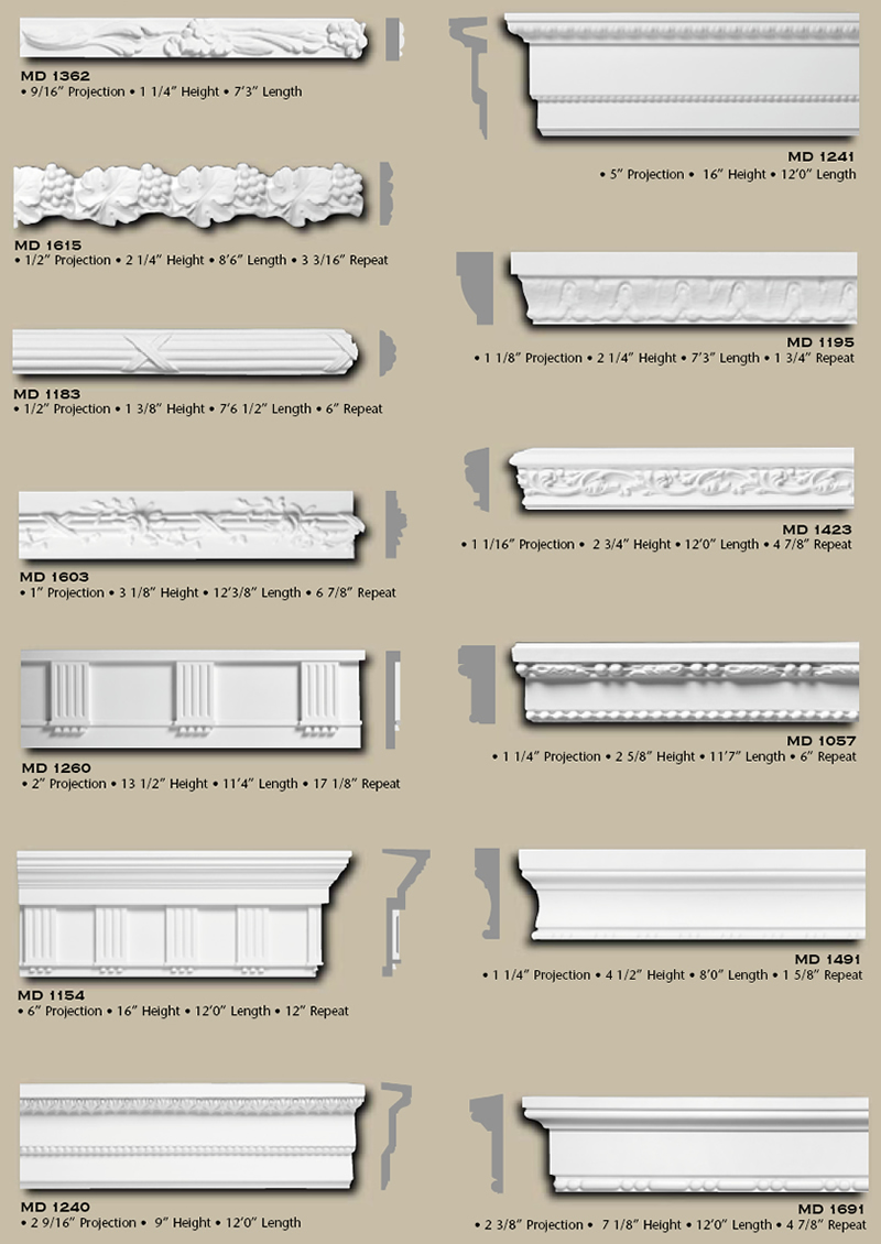 Polyurethane Chair Rail Frieze page 1 from Vintage