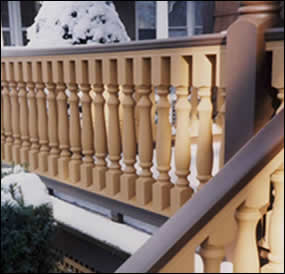 Turned Hemlock Baluster Usage Photo