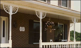 Fan Brackets on Porch Photo 126