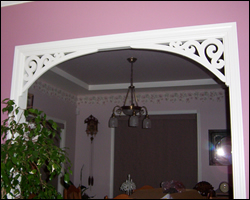 Arched Brackets between cased opening