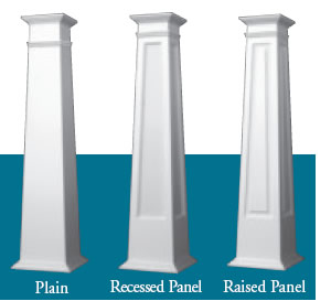 Pvc tapered craftsman columns for Craftsman tapered columns