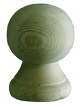 6'' Canon Ball - Pressure Treated Finial