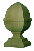 6'' French Acorn - Pressure Treated Finial