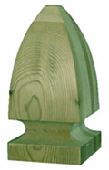 6'' French Gothic - Pressure Treated Finial