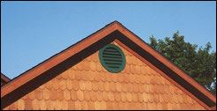 Round Fancy Cut Shingle on gable