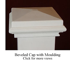 Beveled Cap with Moulding