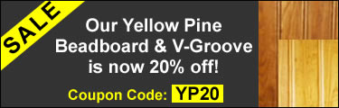 Yellow Pine V-Groove 20% Off!