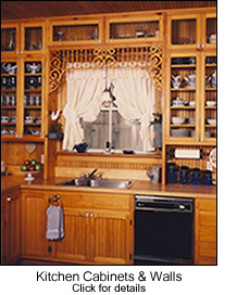 Beadboard Kitchen Cabinet Fronts & Walls