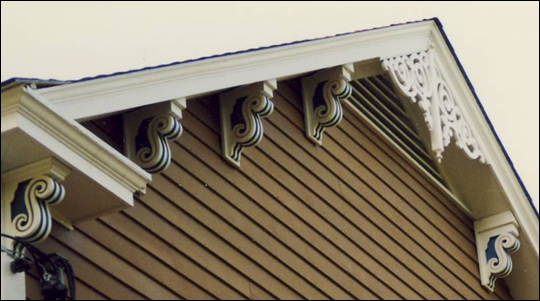 Close-up of Eave on Corbel Photo 7