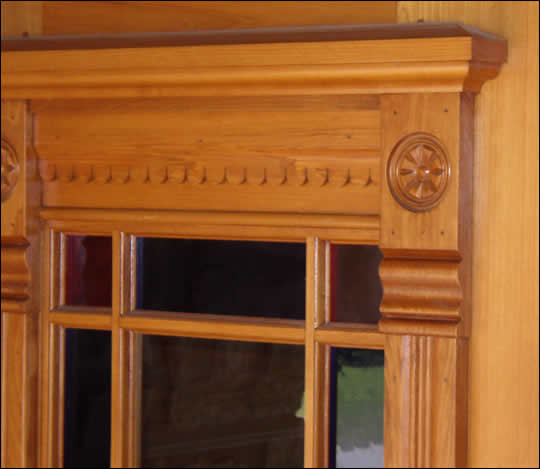 Close-up of Moulding on Top of Door