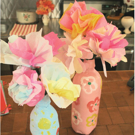 Tissue Paper Flowers craft provided by MakeStuff.com.
