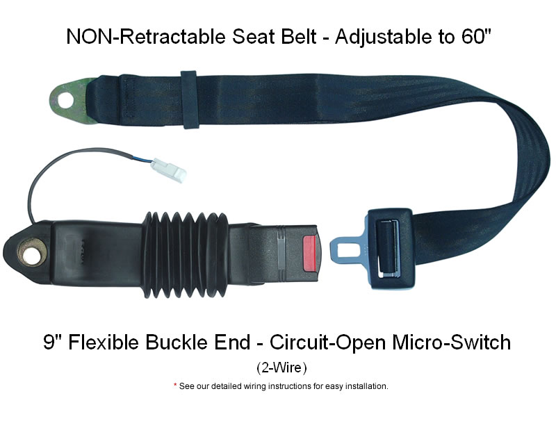 Safety Micro-switch Non-retractable Forklift Seat Belt