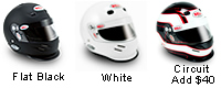 Helmet Colors: Flat Black, Circuit Helmet Graphic and White