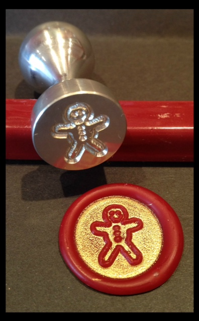 Gingerbread Man Buttons wax seal